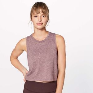Lululemon Box It Out Crop Top Size 2 Red